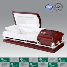 LUXES New Style Casket Rose Tower Red Colored Wood Casket