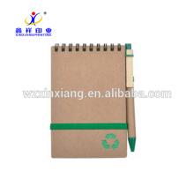 A6 kraft recicla el cuaderno de papel espiral 14.8cm * 21cm