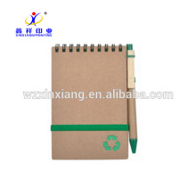A6 kraft recycle spiral paper notebook 14.8cm*21cm