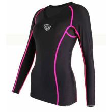 Aktive Frauen Full Sublimated Shirt Compression Wear