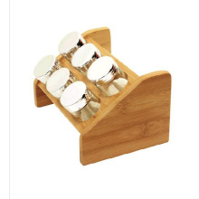 Good Quality for Bamboo Spice Rack Bamboo wood spice rack for 6 glass jars export to Austria Factory