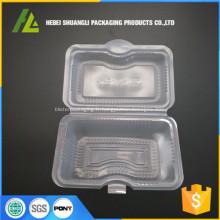 récipient jetable de nourriture en plastique transparent