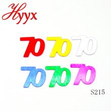 HYYX Surprise Toy Made In China 70 cumpleaños de edad confeti