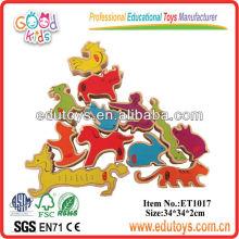 Animaux en bois - 12 animaux Stacker Jouets pour enfants
