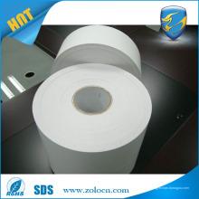 Étiquette autocollante de vinyle destructible à une seule couleur, autocollant personnalisé en coquille d'oeuf blanc pour l'impression
