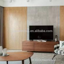 Roble rojo canadiense Aliso Pino de pino Teca de madera Exterior del apartamento Diseño de la puerta principal Panel empotrado Puertas invisibles