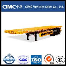 Cimc Flatbed Trailer 3 Axles Flatbed Truck Trailer
