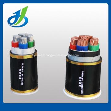 Câble TRXLP 15KV URD un troisième conducteur en cuivre neutre