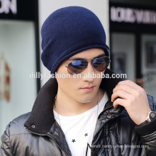 Mens ODM/OEM service fashion cashmere knit eyeholes beanie hat