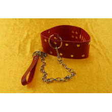 SM Sex Toys Locking Collar Leather