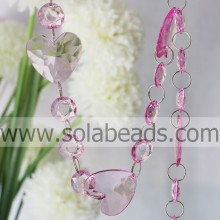 Top venda 38mm & 18 MM cristal Beading cadeia Garland