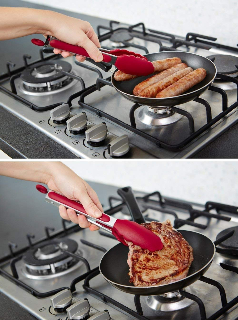 tongs in kitchen