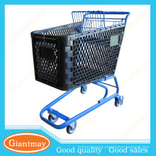 150L pop red plastic shopping cart trolleys