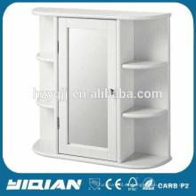 Espejo de esquina cabina de espejo de baño con luz LED