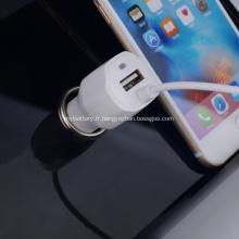 Câble Lightning de chargeur de voiture USB 5v 2.1a