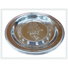 Magnetic 20/24/26/28/30 / 32-68 / 70cm Thai Style Flower Stainless Steel Round Plate