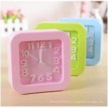 Reloj digital cuadrado promocional, reloj de escritorio Candy para estudiantes perezosos