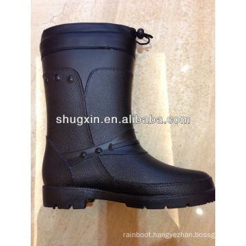 winter warm men's pvc rainboots