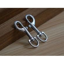 Material de aleación de zinc personalizado ganchillo giratorio gancho para el perro