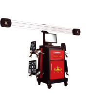 Instrument de positionnement 3D à quatre roues pour wagon de marchandises