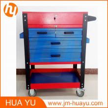 Époxy 4 tiroirs verrouillables Workbench mobile Garage outil Cabinet
