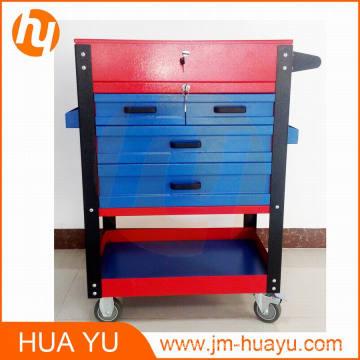 Pulverbeschichtet 4 Schubladen abschließbar Workbench bewegliche Werkstatt Werkzeugschrank