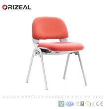 Orizeal Plastic empilable chaise de bureau en tissu de tissu visiteur sans accoudoir (OZ-OCV006C)