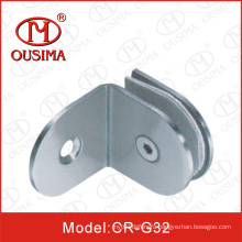 90 Degree Bathroom Partition Glass Fixing Hardware (CR-G30)
