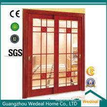 Patio francés exterior / interior puerta plegable con vidrio