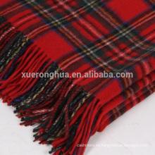 manta escocesa de lana de tartán