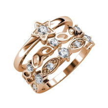 Fashion Sparkling Solar Star Stackable Women Ring 2020
