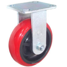 EH07 Fixed PU Caster (Bright Red)
