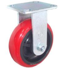 EH07 Fixed PU Caster (vermelho brilhante)