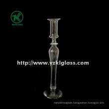 Glass Candle Holder for Wedding Decoration with Single Post (DIA 8*21)