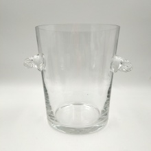 Clear glass ice bucket for wine or champagne