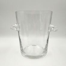 Cubo de hielo de vidrio transparente para vino o champán