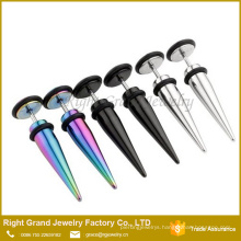 Mixed Colors Surical Steel Taper Fake Cheater Stretcher Ear Plug with O ring
