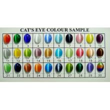 Tabla de colores de piedra del ojo de gato
