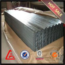900mm galvanizado chapa de acero corrugado / chapa de acero galvanizado / precio barato techado de metal