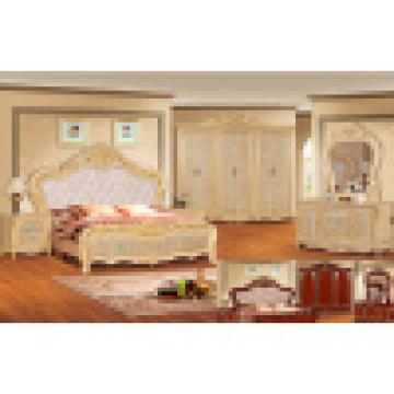 Антикварная кровать для классической мебели спальный гарнитур (W805B)