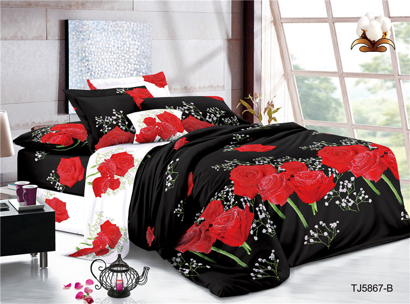 Print Jacquard Polyester Bed Covers