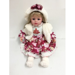 "24"" Handmade Vinyl Plastic Lovely Doll Big Eyes"