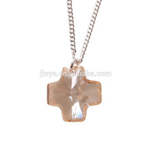 Bling Bling Simple Designs Moda Minimal Cruz De Cristal Colar