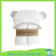 Eco-friendly Softness Bamboo Fiber Baby Hooded Bath Towel