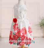 2016 spring and summer baby girls print dress European and American foreign trade high-grade princess dress skirt