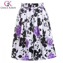 19 Colors ! Grace Karin Cheap Occident Retro Vintage 50s Short Ploral Printed Cotton Skirt CL6294-16#
