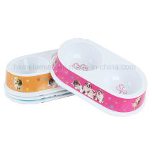 Melamina Dividido Animal Pet Bowl