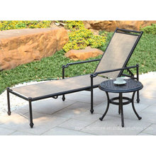 New Elizabeth Cast Aluminum Stack Adjustable Outdoor Patio Furniture Set Hotel Garden Chaise Lounge