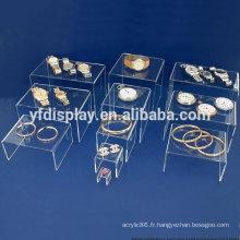 présentoir de sucette en plastique / présentoir d'affichage de bijoux