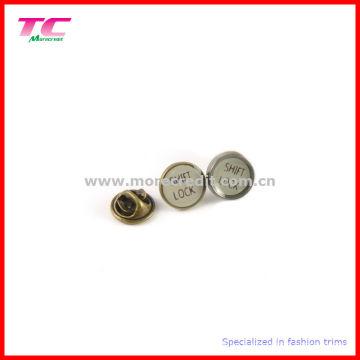 Custom 12mm esmalte pin insignia para accesorios de prendas de vestir